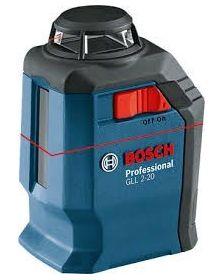 ლაზერული საზომი Bosch Professional GLL 2-20 + BM3 + ქეისი