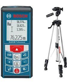 ლაზერული საზომი შტატივით,  Bosch GLM 80 + BS 150 Professional