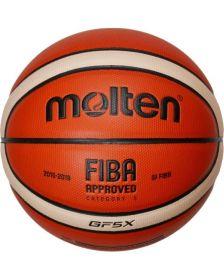 კალათბურთის ბურთი MOLTEN basketball ball BGF5X-X FIBA leather