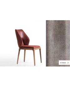 სკამი DUO, ნუბუკის ზედაპირით, კრემისფერი, Sinay3/Nills Walnut, DW-928801
