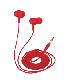 ყურსასმენი TRUST Ziva In-ear Headphones with microphone - red
