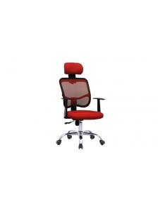 სავარძელი ბადის ზედაპირით, შავი/წითელი, ZG-D05A(Black+Red), ZG-214001