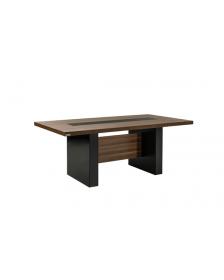 საკონფ. მაგიდა BIELA,მუქი კაკალი/შავი, REN-BIE.05.24, REN-213048