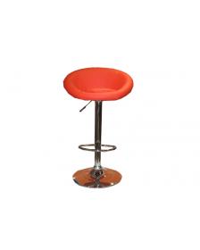ბარის სკამი ტყავის ზედაპირით, წითელი, DM-6777, DM-905154