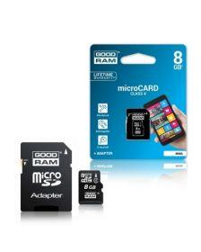 მეხსიერების ბარათი GOODRAM M400-0080R11; 8GB MICRO CARD class 4