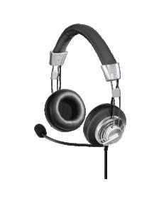 ყურსასმენი HAMA PC-Headset Style USB black/grey (139914)