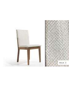 სკამი CALVINO, ნაჭრის ზედაპირით, კრემისფერი, Pala 2/yol Walnut, DW-928808
