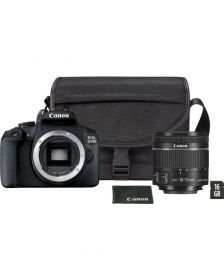 ციფრული კამერა Canon EOS 2000D Black + Lens EF-S 18-55 IS II + Shoulder Bag + 16GB SD Card