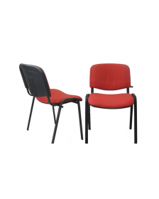 """საოფსე სკამი ნაჭრის ზედაპირით """"Iso"""", წითელი, (ნოვი სტილი, უკრაინა), Ns-901572"""