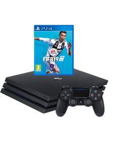 სათამაშო კონსოლი Sony Playstation 4 Console 1TB  with FIFA 19  (Black)\PS4