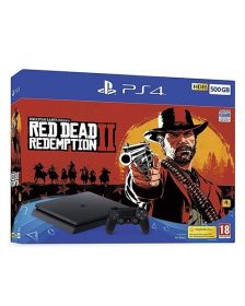 სათამაშო კონსოლი Sony Playstation 4 Console 500GB with Red Dead Redemption 2 Black