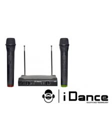 2 უსადენო მიკროფონი გადამცემით iDANCE Vocal 258 Microphone
