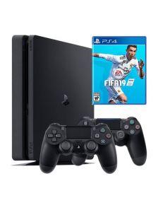 კონსოლი Sony Playstation 4 1TB  with FIFA 19 + Extra Dualshock Controller  (Black)\PS4