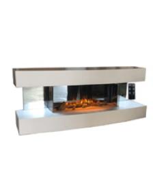 ელექტრო ბუხარი WHITE 3D-900