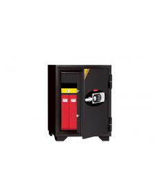 ცეცხლგამძლე სეიფი ელექტრონული საკეტით და გასაღებით Di-070EHK77(RAL7021), Di-900968