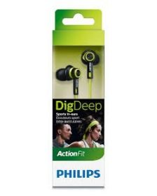 ყურსასმენი Philips ActionFit SHQ2400CL/00 In-ear, Lime/Black