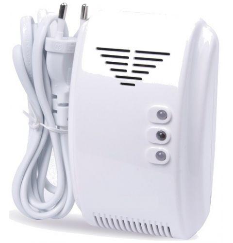 გაზის კომპლექსური დეტექტორი განგაშით და სარქველის მართვით 220V