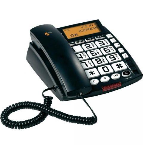 კაბელიანი ტელეფონი Topcom SOLOGIC A811