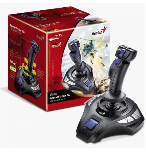 ჯოისტიკი  MetalStrike Pro, Genius, Vibration Feedback Joystick for PC