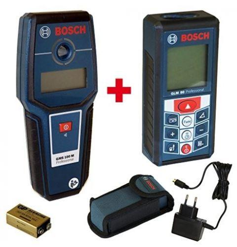 ლაზერული საზომი მეტალოდეტექტორით, Bosch GLM 80 + GMS 100M Professional1018