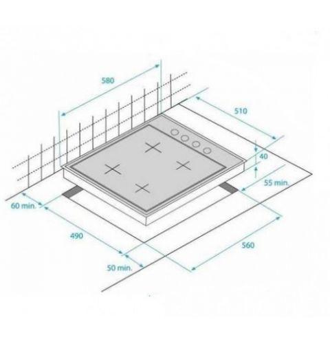 ჩასაშენებელი ქურის ზედაპირი BEKO HIZG 64125 SCR