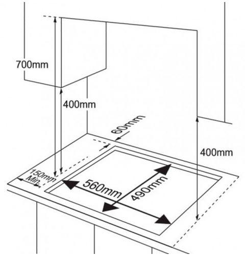 ჩასაშენებელი ქურის ზედაპირი Samsung NA64H3010AS/WT