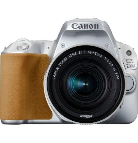 ციფრული ფოტოაპარატი Canon EOS 200D Silver + Lens EF-S 18-55 IS STM