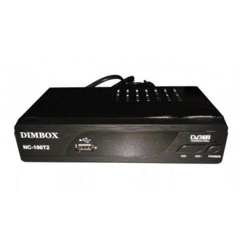 TV მიმღები DIMBOX NC-100T2 DVB-T2 DIM BOX USB HDMI output black