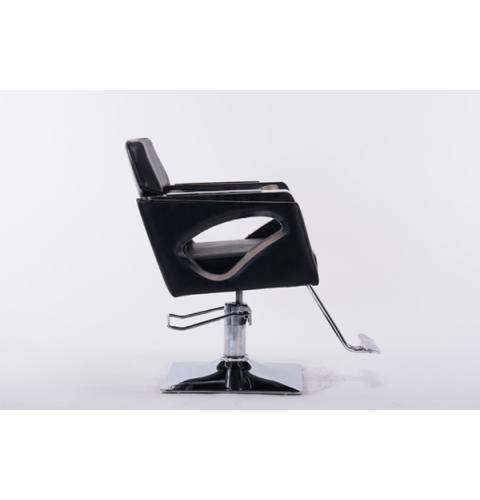 სალონის სკამი ტყავის ზედაპირით შავი, UT-C398A, UT-911515