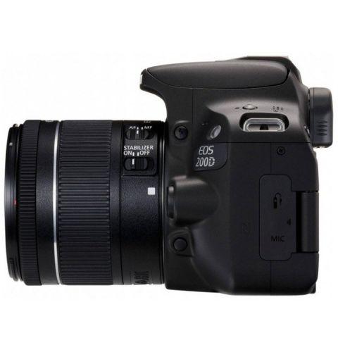 სარკული ფოტოაპარატი CANON EOS 200D KIT 18-55 IS STM BLACK (2250C017AA)