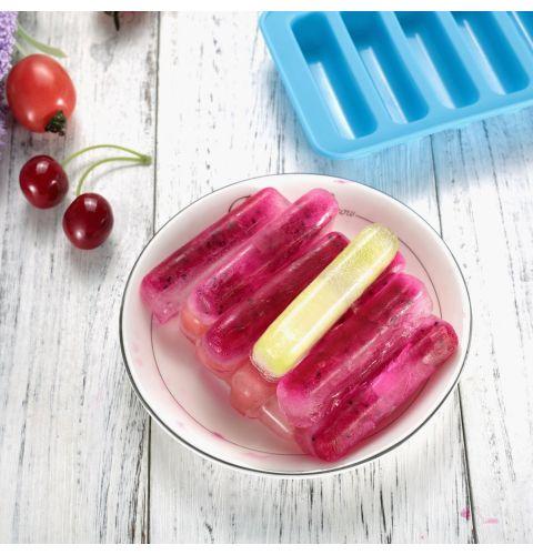 ფორმა Essenso 7062 Slicone Ice& Chocolote Mould Strip Shape-Bluee