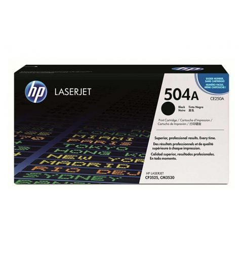 კარტრიჯი HP 504A Black Original LaserJet Toner Cartridge