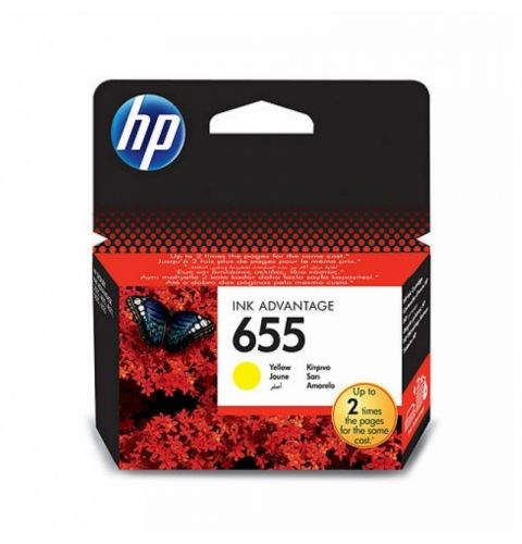 კარტრიჯი HP 655 Yellow Original Ink Advantage Cartridge