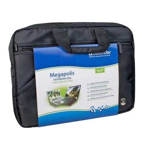 """ნოუთბუქის ჩანთა  Defender  Bag Megapolis 15""""-16"""", შავი"""