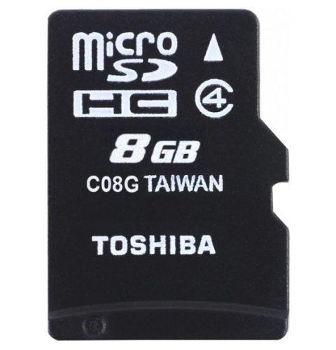 მეხსიერების ბარათი  TOSHIBA  8GB  Class 4