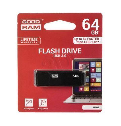 ფლეშ მეხსიერება GOODRAM 64GB 3.0, UEG3, Metal Case